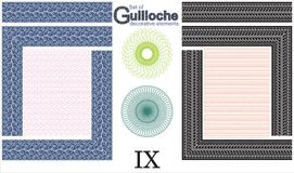 Set of Guilloche decorative elements. Royalty Free Stock Photography