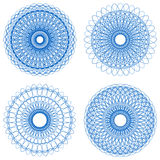 Set of guilloche rosettes Royalty Free Stock Photos