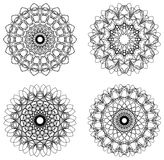 Set of guilloche rosettes Royalty Free Stock Images