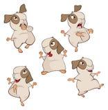 A set of a guinea pigs cartoon Royalty Free Stock Photos