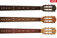 Set of Guitar neck fretboard and headstock Royalty Free Stock Image