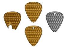 Set of guitar picks bee texture Stock Photos