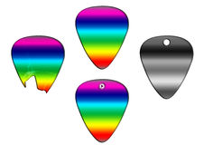 Set of guitar picks colorfull texture Stock Photography