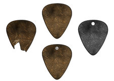 Set of guitar picks ground texture Royalty Free Stock Photo