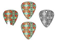 Set of guitar picks retro texture Stock Photography