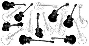 Set of guitars. Stock Images