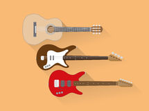 Set of guitars Stock Photography