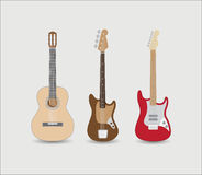 Set of guitars Royalty Free Stock Image