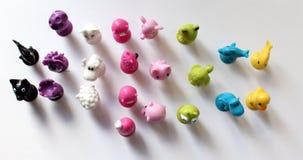Set gumowe zabawki Zdjęcie Royalty Free