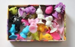 Set gumowe zabawki Zdjęcia Stock