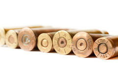 Set of gun bullets Royalty Free Stock Images