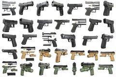 Set guns police, military Stock Photos
