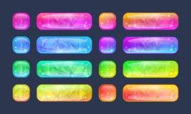 Set guziki dla gry lub sieć projekta Fotografia Royalty Free
