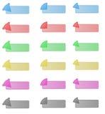 Set guziki z arrown w lewica wierzchołka kącie Obrazy Royalty Free