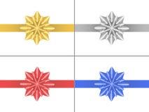 Set gwiazdowi łęki Zdjęcie Royalty Free