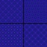 Set gwiazdowi wzory Fotografia Stock