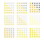Set 5 gwiazdowych ratingowych ikon Gwiazdowa ocena w różnych stylach również zwrócić corel ilustracji wektora EPS10 Odosobniona o Zdjęcie Stock