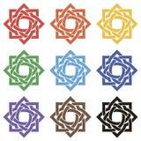 Set gwiazdy od przeplatanego faborku Zdjęcia Royalty Free