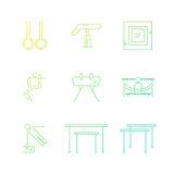 Set of Gymnastics Icons Stock Image