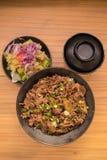 Set of gyudon : japanese food Stock Photography