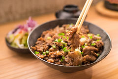 Set of gyudon : japanese food Royalty Free Stock Photos