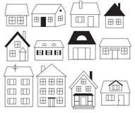 Set Häuser Lizenzfreie Stockfotos