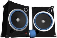 set högtalare för mic Arkivfoto