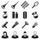 Set hair cut icons. Set of vector icons hairdresser. Accessories for hair cutting and shaving Stock Photo