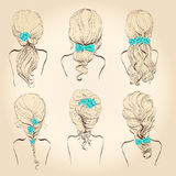 Set hair with flowers, Royalty Free Stock Images