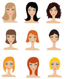 Set of  hair styling Royalty Free Stock Photography