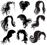 Set of hair styling Stock Photography