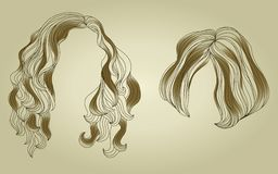 Set of hair styling for woman Stock Photo