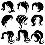 Set of hair symbols Royalty Free Stock Photography