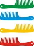 Set of hairbrushes Stock Photos