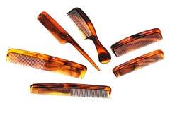 Set hairbrushes Stock Images