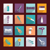 Set of haircutting tool - Illustration Stock Images