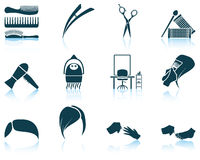 Set of hairdresser icon Stock Images