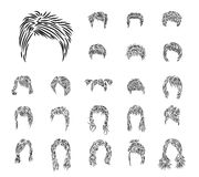 Set from hairdresses Stock Photos