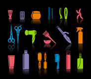 Set Of Hairdressing Accessories Royalty Free Stock Photo