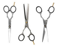 Set of hairdressing scissors Royalty Free Stock Photography