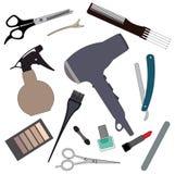 Set hairdressing supplies. Royalty Free Stock Image
