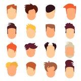 Set of hairstyle man Stock Photo