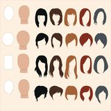 Set of hairstyles for different face shapes Royalty Free Stock Image