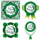 Set of Halal signs Stock Photos