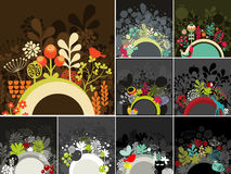 Set of half round banner for your messages. Decorative vector illustration Royalty Free Stock Photography