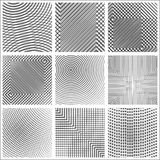 Set of halftone abstract forms Stock Images