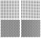 Set of halftone background. Set of halftone seamless vector background stock illustration