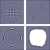 Set of halftone backgrounds. Royalty Free Stock Images