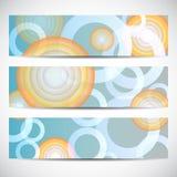 Set of halftone backgrounds. Halftone dots round shapes. Stock Photos