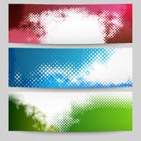 Set of halftone banners Stock Images